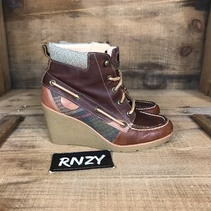 Sperry Bailey Wedge Leather